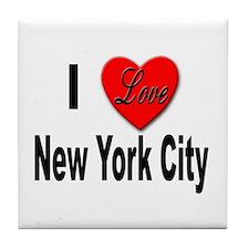 I Love New York City Tile Coaster