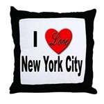 I Love New York City Throw Pillow