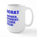 Vote Democrat Large Mug