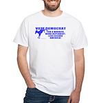 Vote Democrat White T-Shirt