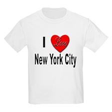 I Love New York City (Front) Kids T-Shirt