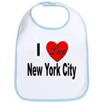 I Love New York City Bib