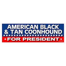 AMERICAN BLACK TAN COONHOUND Bumper Bumper Sticker