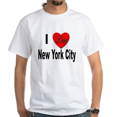 I Love New York City (Front) White T-Shirt