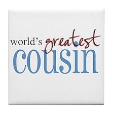 World's Greatest Cousin Tile Coaster