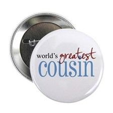 """World's Greatest Cousin 2.25"""" Button (100 pack)"""