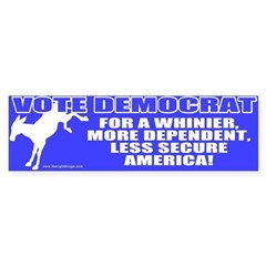 Vote Democrat Bumper Bumper Sticker