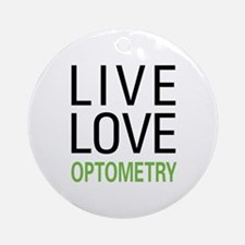 Live Love Optometry Ornament (Round)