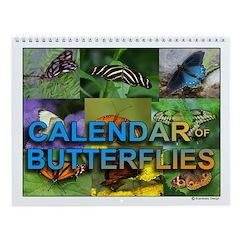 Butterflies 12 Month Butterfly Full Wall Calendar