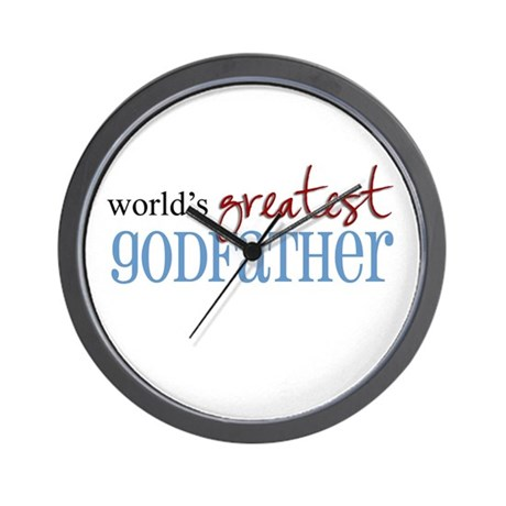 World S Greatest Godfather Wall Clock By Myubergoober