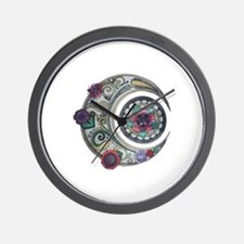 Spiral moon Wall Clock
