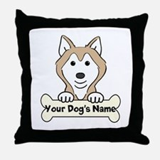 Personalized Husky Throw Pillow