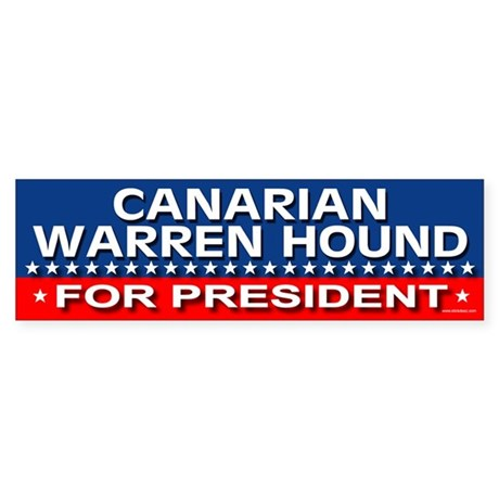 CANARIAN WARREN HOUND Bumper Sticker