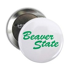 "Oregon The Beaver State 2.25"" Button (10 pack)"