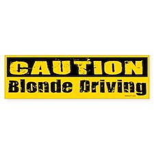 Blonde Driving Bumper Bumper Sticker