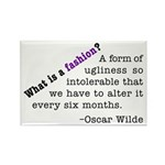 Wilde About Fashion Rectangle Magnet