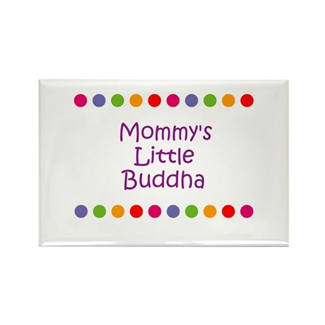 Mommy's Little Buddha Rectangle Magnet