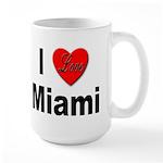 I Love Miami Large Mug