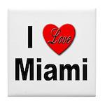 I Love Miami Tile Coaster