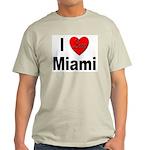 I Love Miami (Front) Ash Grey T-Shirt