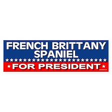FRENCH BRITTANY SPANIEL Bumper Bumper Sticker