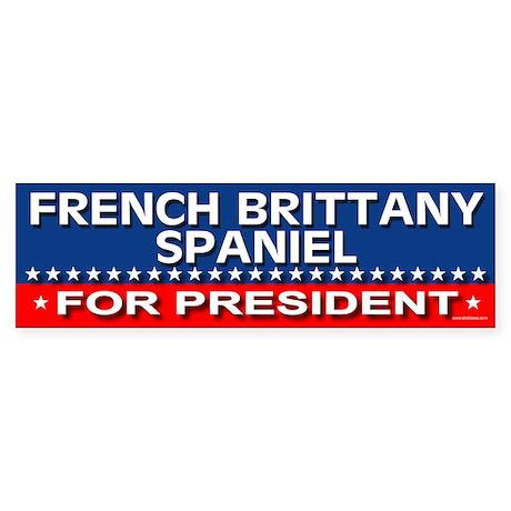 FRENCH BRITTANY SPANIEL Bumper Sticker