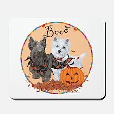 Scottie Westie Halloween Mousepad