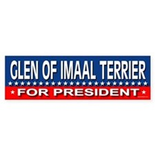 GLEN OF IMAAL TERRIER Bumper Bumper Sticker