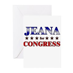 JEANA for congress Greeting Cards (Pk of 20)