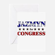JAZMYN for congress Greeting Card