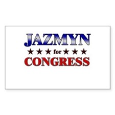 JAZMYN for congress Rectangle Decal