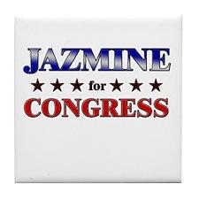 JAZMINE for congress Tile Coaster
