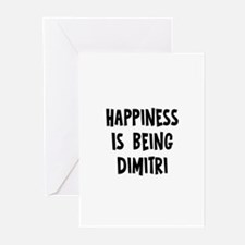 Happiness is being Dimitri Greeting Cards (Pk of 1