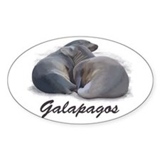 Sea Lions Oval Decal