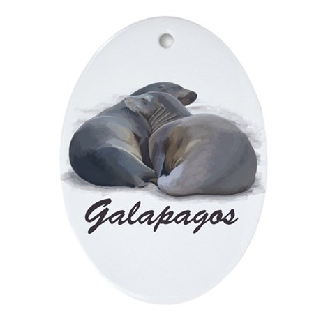 Sea Lions Oval Ornament