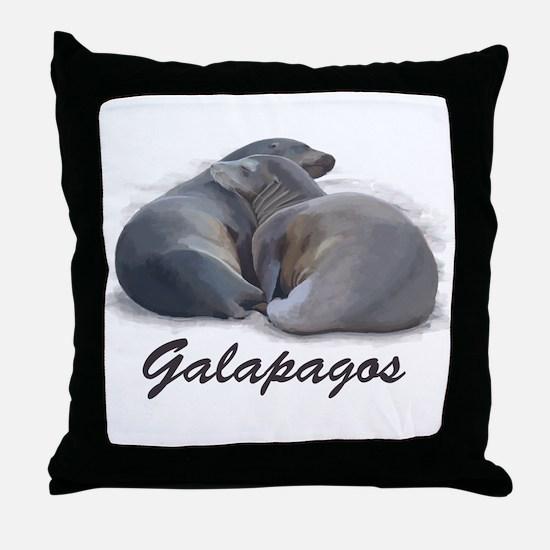 Sea Lions Throw Pillow