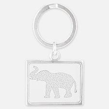 Cute Elephant theme Landscape Keychain