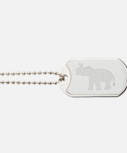Cute Mother elephant and baby elephant Dog Tags