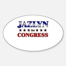 JAZLYN for congress Oval Decal