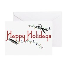 Hairstylist Holiday Card Greeting Card