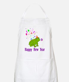 New Years Frog BBQ Apron