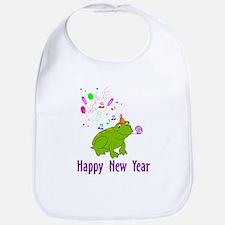 New Years Frog Bib