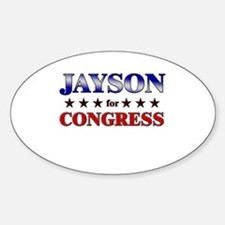 JAYSON for congress Oval Decal