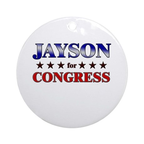 JAYSON for congress Ornament (Round)