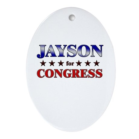 JAYSON for congress Oval Ornament