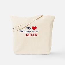 My heart belongs to a Jailer Tote Bag
