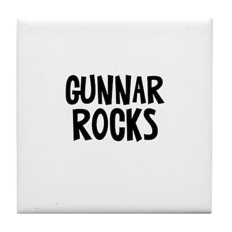Gunnar Rocks Tile Coaster