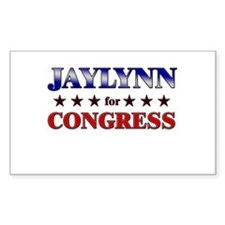 JAYLYNN for congress Rectangle Decal