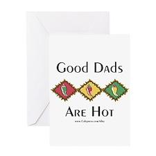 Hot Dads Greeting Card