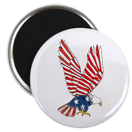 """Patriotic Eagle 2.25"""" Magnet (10 pack)"""